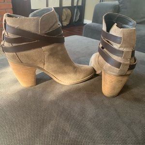Dolce Vita Suede Booties (Size 8.5)